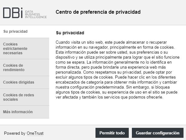 Centro de Preferencia - OneTrust